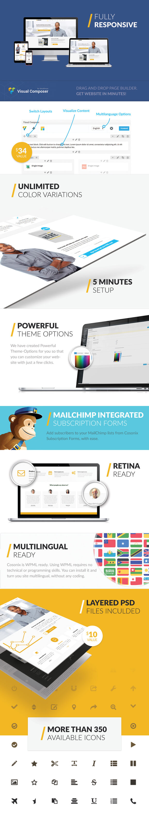 Cosonix - Creative One-Page WP Theme