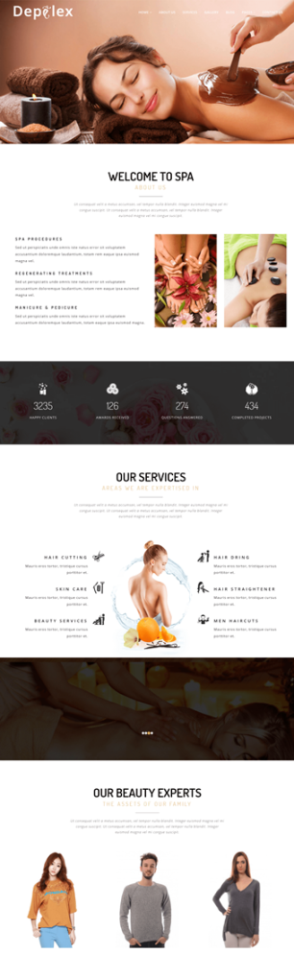 Depilex Salon - Parlour - Spa - Gym - Multipurpose WP Theme - 1