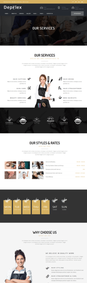 Depilex Salon - Parlour - Spa - Gym - Multipurpose WP Theme - 3