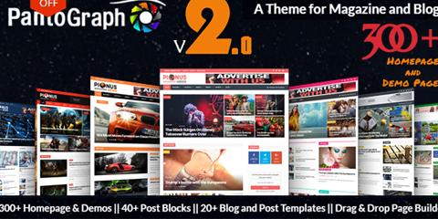 PantoGraph Newspaper, Magazine, Blog, Editorial WordPress Theme