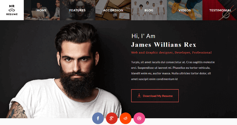Morgan – Resume Theme
