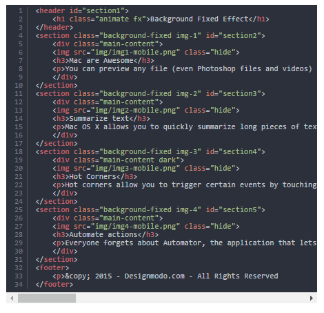 html-code-snippet