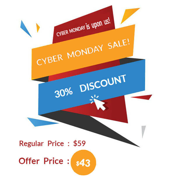 Cyber Monday Sale – 30% off  Open Now!