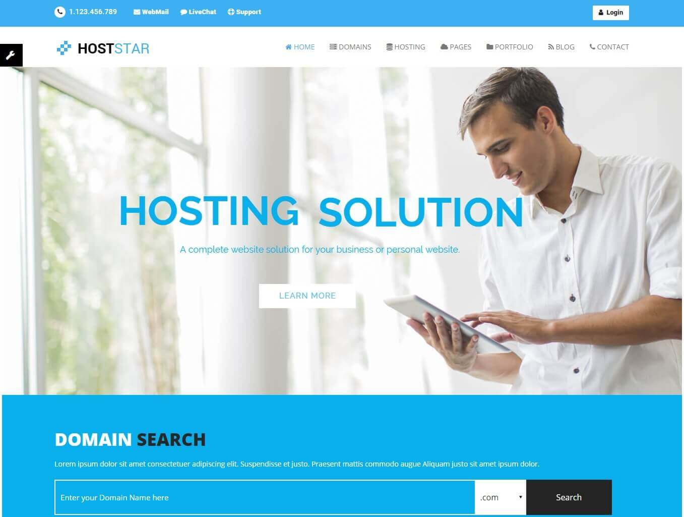 HostStar hosting theme preview