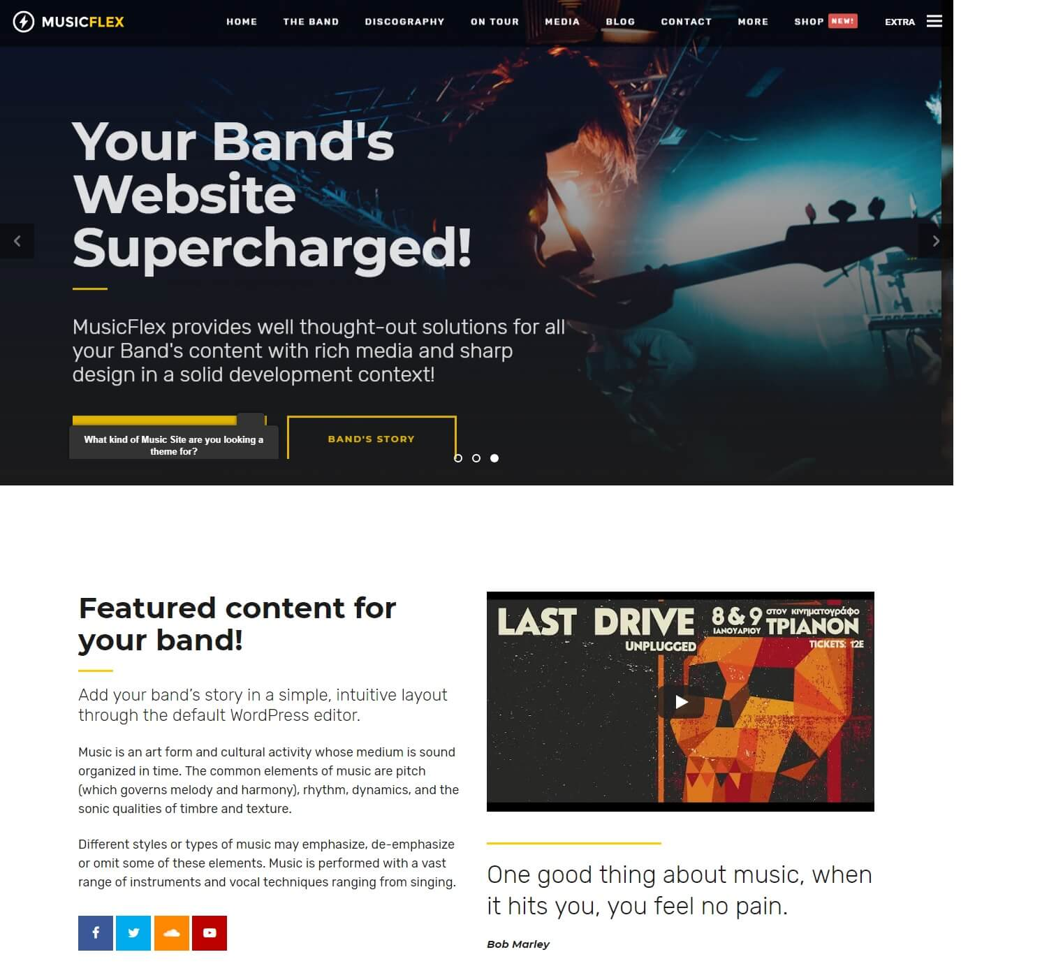 20 Awesome & Responsive WordPress Music Themes for Musicians 2019