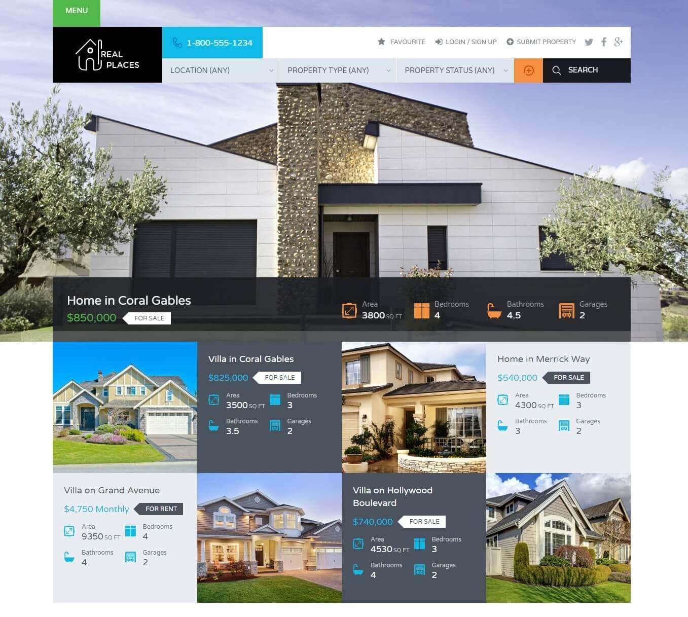 20 Beautiful and Responsive Real Estate WordPress Themes for Agencies, Realtors 2019