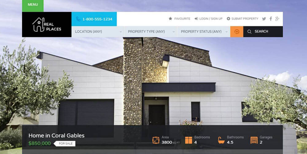 20 Beautiful and Responsive Real Estate WordPress Themes for Agencies, Realtors 2019