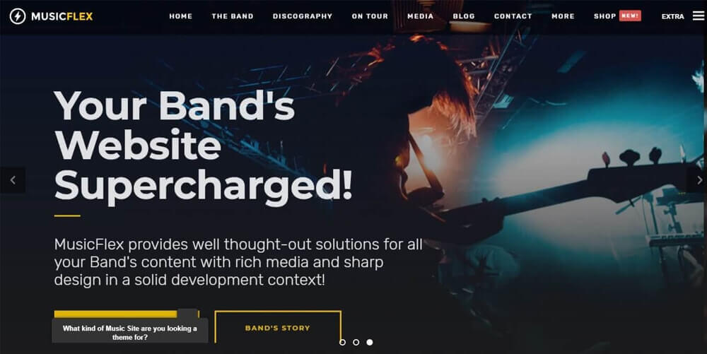 20 Awesome & Responsive WordPress Music Themes for Musicians 2021
